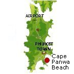 Panwa Beach Karte - Phuket Map